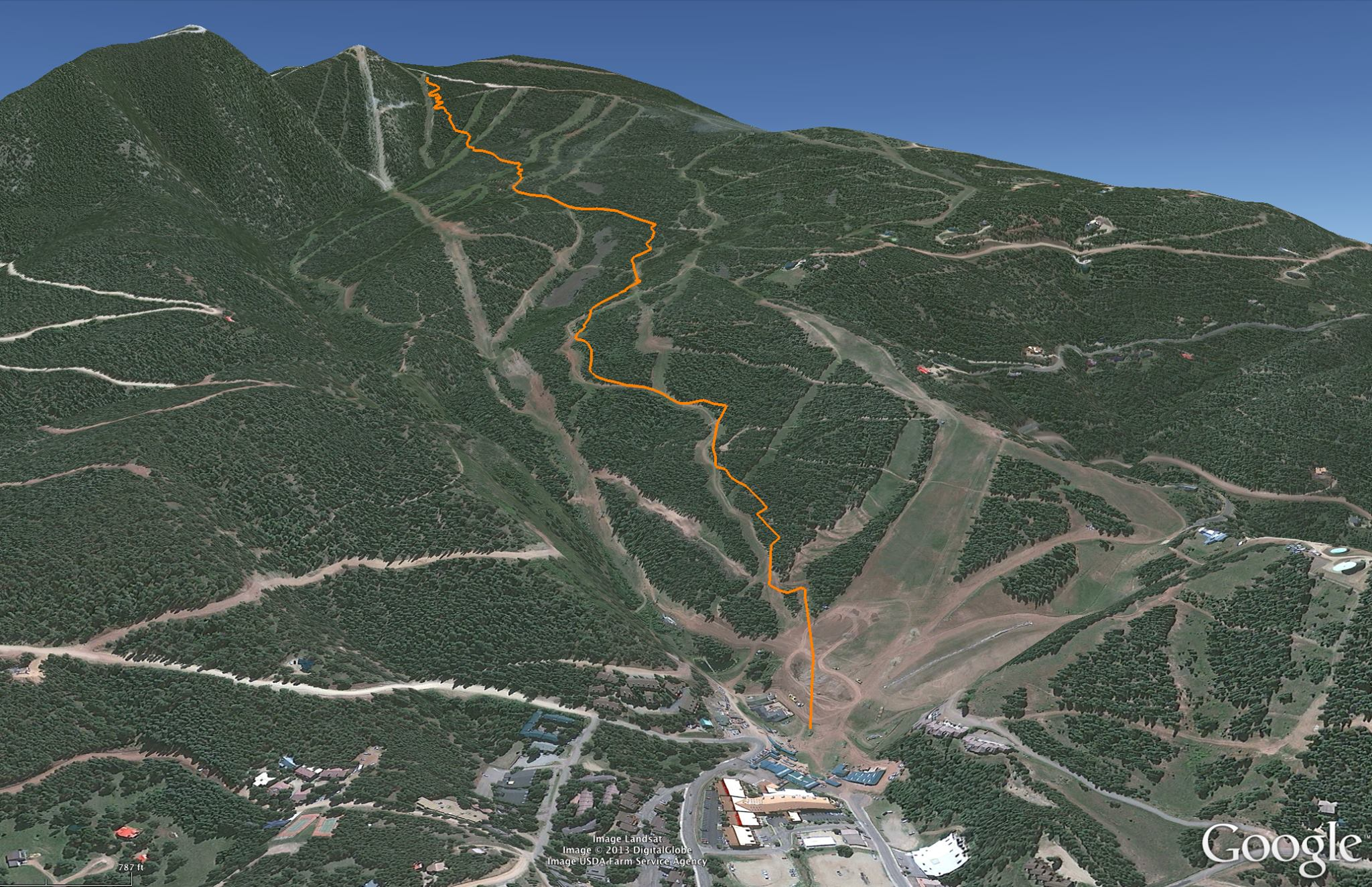 Angel Fire Gravity Nationals Downhill Mtb Race Course Map