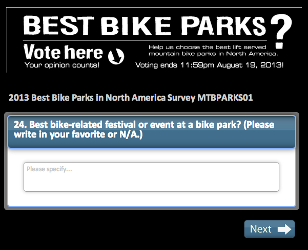 Vote here for your favorite mountain bike festival!