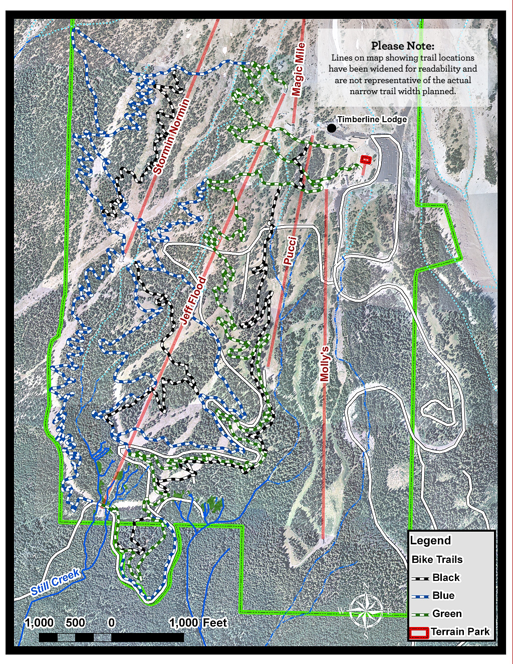 Timberline Mtb Bike Trails Map Draft Plan