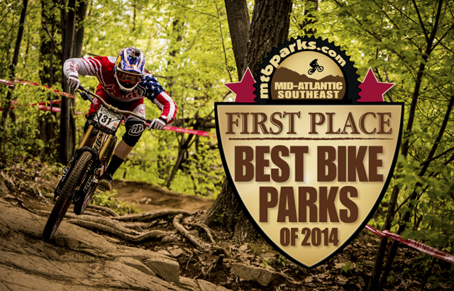 Mountain Creek Bike Park wins the top spot for the Mid Atlantic/Southeast Region in the 2014 Riders' Choice Awards.