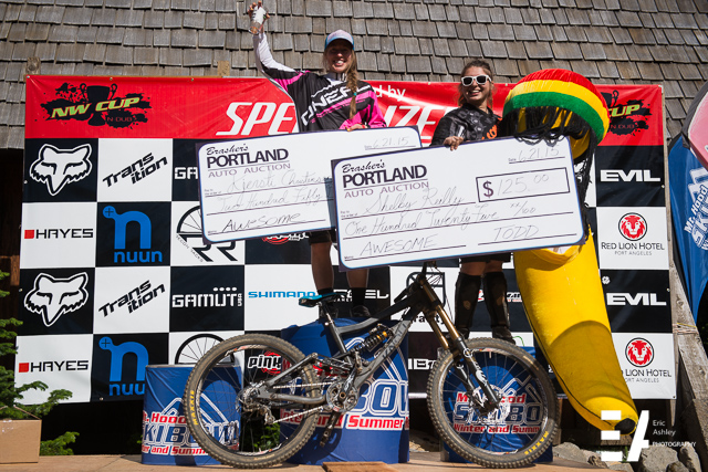 Pro Women Podium at the 2015 NW Cup # 3 at Skibowl Mt. Hood.