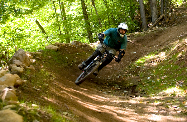 Mountain Biking at Sunday River Bike Park.