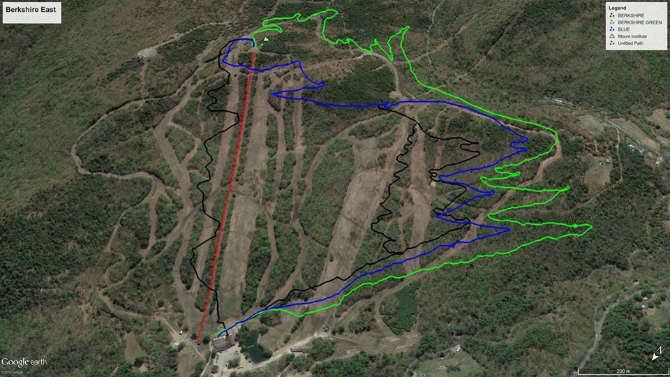 Thunder Mountain Bike Park Trail Map