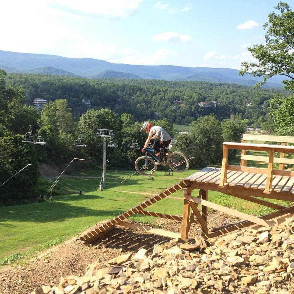 Some great wood features await at Bryce Bike Park