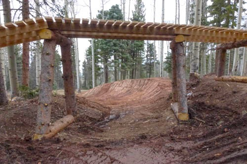 Bridges and Berms are plentiful at Angel Fire Bike Park.
