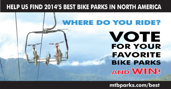 Now is your chance to VOTE for your favorite bike parks and get a chance to win some great prizes!