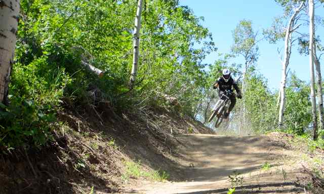 Steamboat Bike Park officialy opened with gravity fed bike trails in 2012.