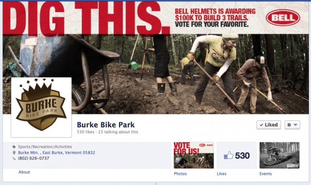 Burke Bike Park Competes for $100,000 Grant from Bell Helmets & IMBA