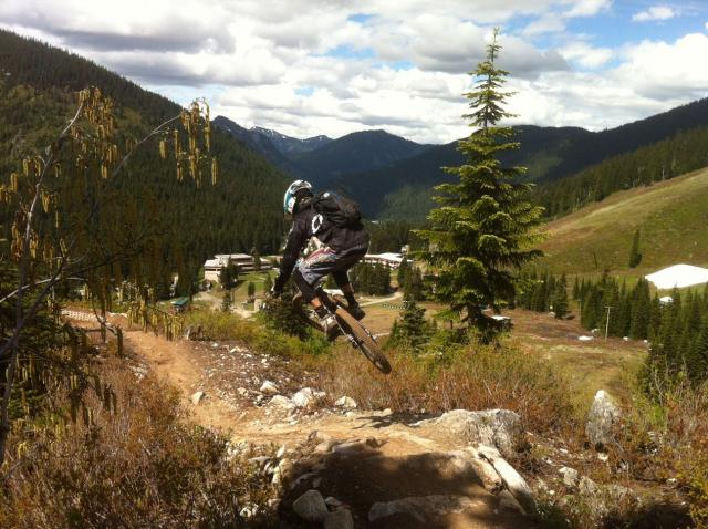 Lance Canfield on the Slingshot Wookie Trail at Stevens Pass