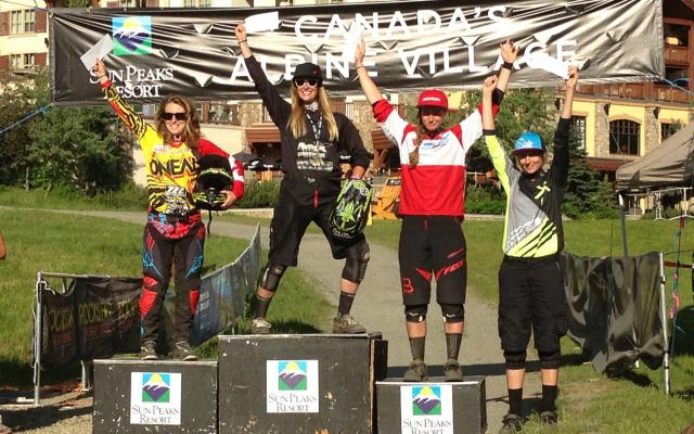 Sun Peaks Bike Park DH Elite Womens Podium