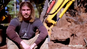 Trail crew foreman Patrick West talks Hungry Hippo.