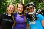Ladies pose between laps at Bailey Mountain Bike Park.