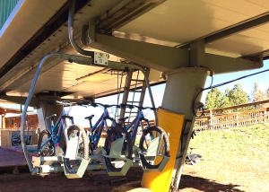 Newly installed triple-bike carriers at Angel Fire offer increased safety, security and improved upload capacity.