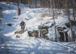 Fat Bikers drop into Calculated Risk at Spirit Mountain.