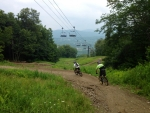 Trail 9 at Mount Snow Bike Park
