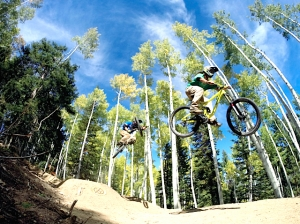 The air supply is plentiful on Steamboat's Flying Diamond trail.