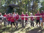 The Launch Bike Park crew cuts the ribbon on opening day in 2010.