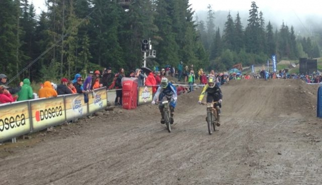 Sloppy Conditions at Crankworx Dual Slalom