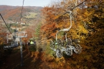 Fall colors in Massachusetts signal a change in the seasons and the end of Thunder Mountain Bike Park's first season.