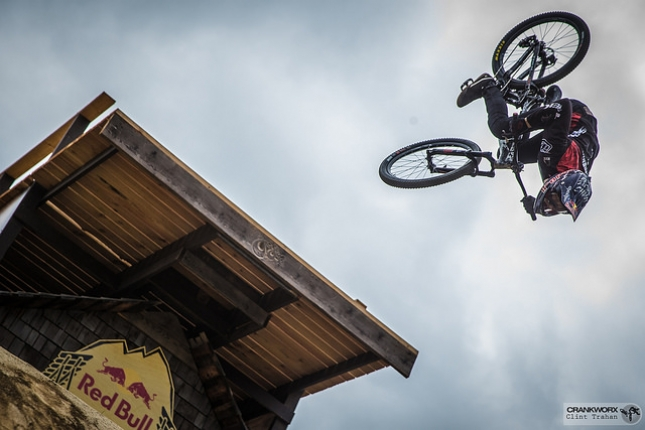 Brandon Semenuk proves to the crowds of Whistler that no special effects were used in the making of his 'unReal' segment.