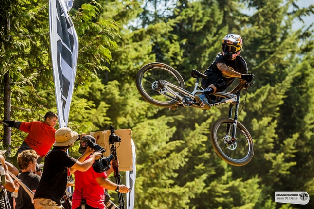 Whip-Off World Champion Andreu Lacondeguy lets it all hang out.