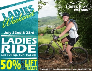 LADIES' WEEKEND: Greek Peak to Offer Half-Price Tickets to Women