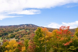 The leaves are changing, but the lifts are still spinning at Mount Snow Bike Park.