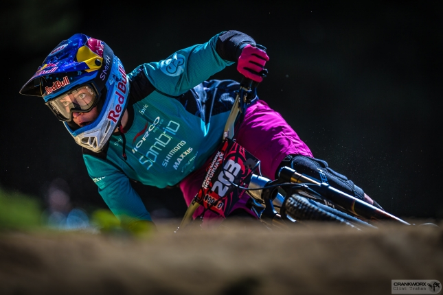 Queen of Crankworx Jill Kintner will be under fire in one half of mountain biking's toughest competition.