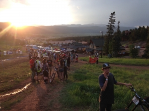 The sun sets over qualifiers at the 2015 Angel Fire Chile Challenge Pro GRT.
