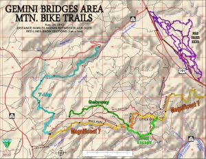 Gemini Bridges / Mag 7 Trail Map