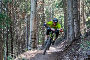 Rider Charging hard at Canyons Enduro