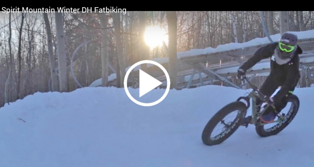 VIDEO: Winter Downhill Fat Biking Returns to Spirit Mountain