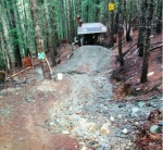 Despite a lack of snow, spring has left its mark on Whistler trails with massive water damage.