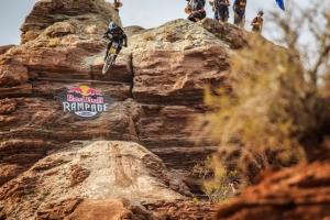 Tyler McCaul sends the 'El Presidente' drop during Rampage 2015.