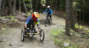Runks leads riders in Thunder Mountain Bike Park.