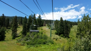 The Tamarack Express serves 20 trails dropping 1,700 feet of vert.