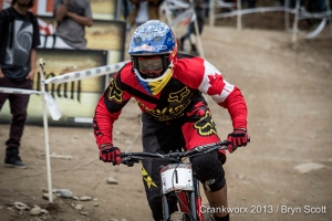 Instead of competing, Steve Smith spends Crankworx 2014 sidelined by an injury.