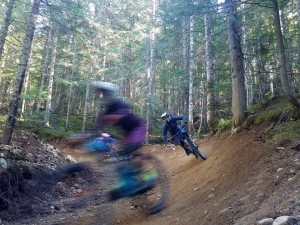 B Line is composed of endless manicured berms and rollers, ideal for trains with your friends.