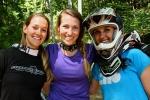 Ladies pose between laps at Bailey Mountain Bike Park.