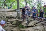 The course was rocky and technical in the woods with rough, high-speed sections and big jumps out in the open.