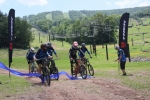 The ribbon 'cutting' ceremony at Windham Mountain Resort's Bike Park opening day.