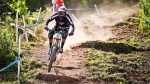 Neko Mulally tears up the track during the 2014 UCI World Cup in Windham.