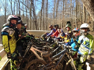 Riders loaded up for another round of radness at Bailey Mountain Bike Park.