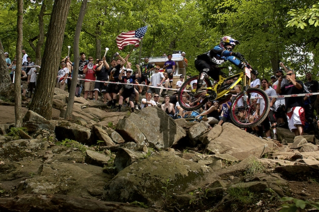 Jill Kintner in the 2011 US Open rock garden.