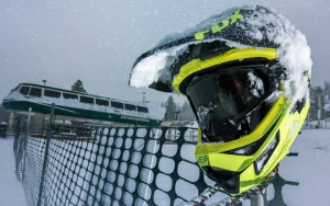Snow Summit Bike Park opening day delayed due to spring snow.