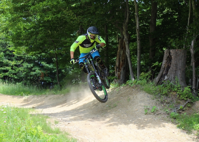 The author finds a side hit at Okemo.