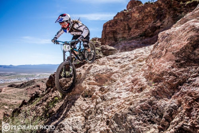 Samantha Kingshill is very familiar with the terrain at Bootleg Canyon, taking a number of wins in the Pro Womens class over the last few years.
