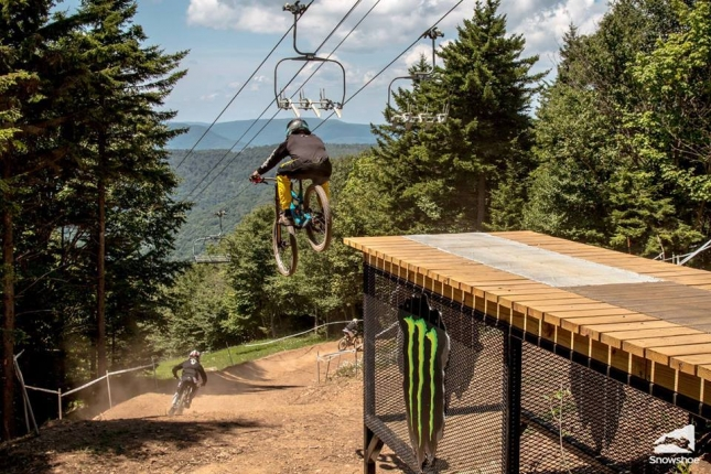 Snowshoe Bike Park opens Friday, May 26, 2017.