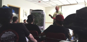 The Forest Service addresses riders during an open house at Winter Park Resort.