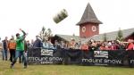 Mount Snow Oktoberfest brings the fun with keg throwing.